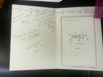thank you card to teachers at beaulaz