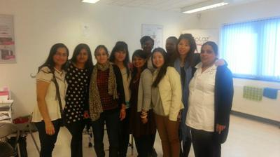 students in beauty therapy