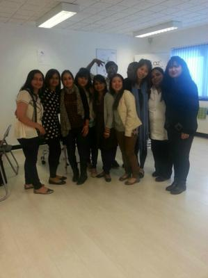 group photo students beaulaz uk
