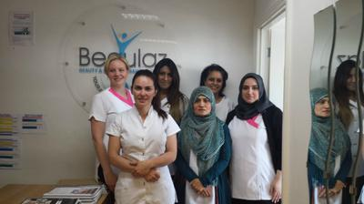 students at beaulaz beauty college